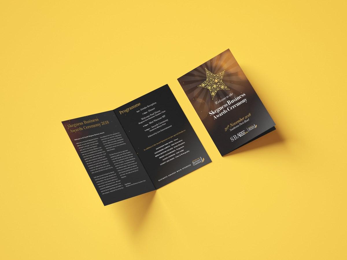 Skegness Business Awards Programme Design