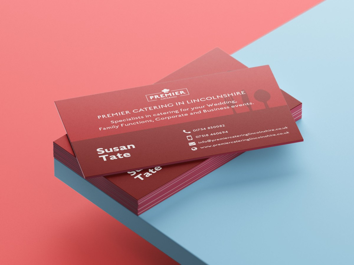 Premier Catering Business Card Design