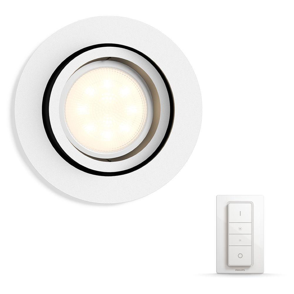 Philips Hue White Ambiance Milliskin Einbaustrahler Philips Hue Click Licht De