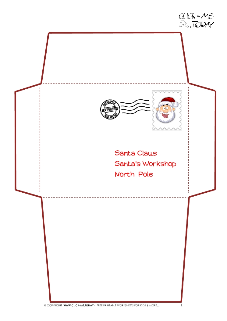photo relating to Printable Santa Envelopes referred to as Envelope In opposition to Santa Template. totally free printable envelopes in opposition to