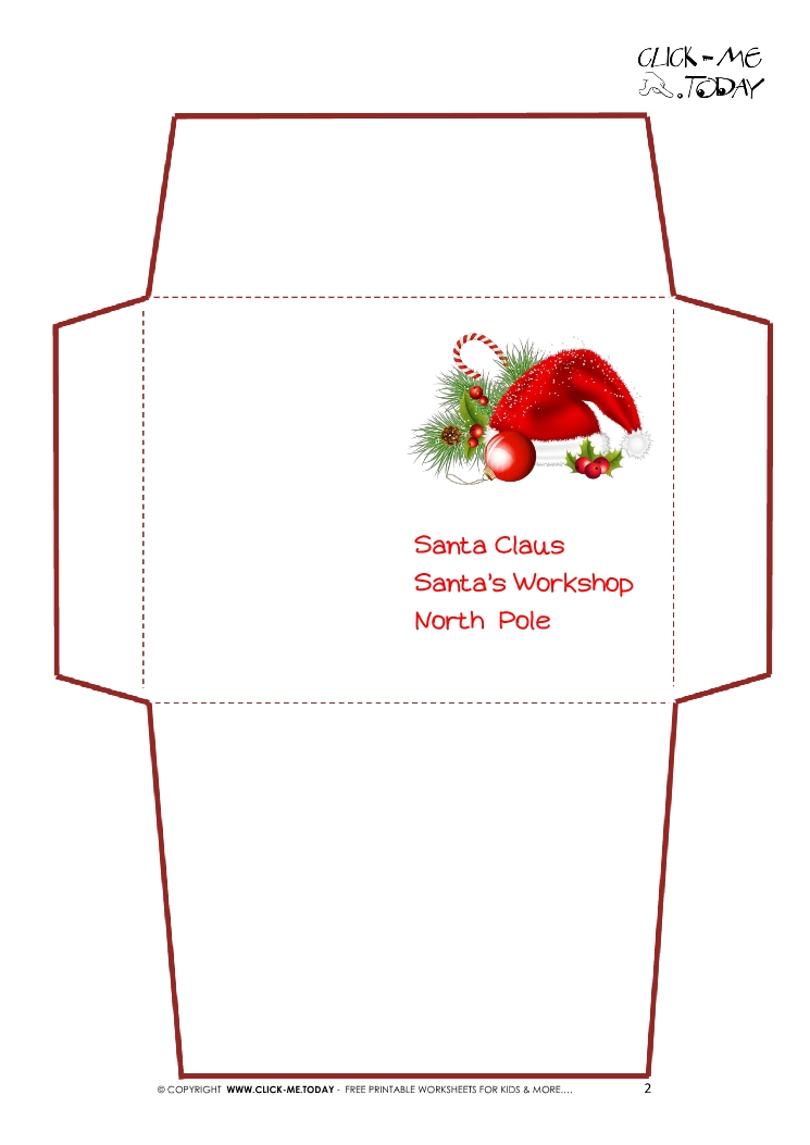 picture regarding Printable Santa Envelopes named No cost Xmas Envelope Templates. hire my totally free templates in the direction of