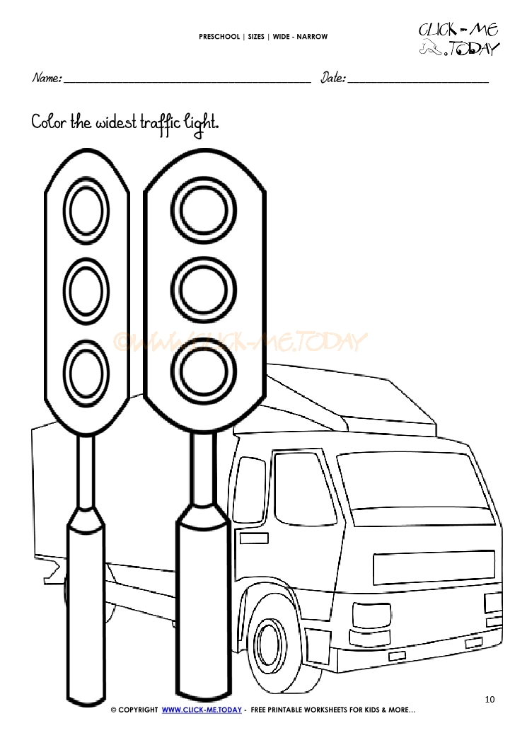 Traffic Light Worksheet For Preschoolers | www.lightneasy.net