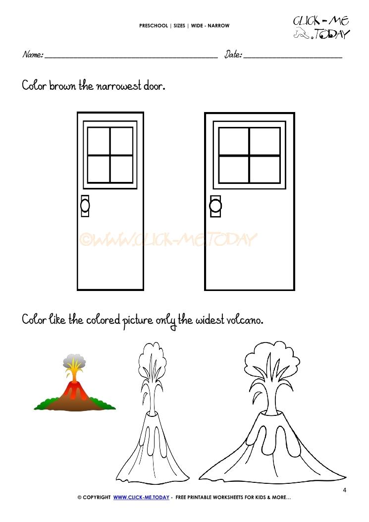 wide narrow worksheet 4