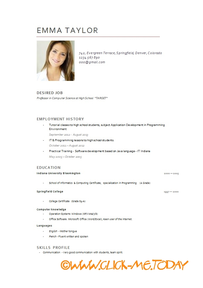 Doc728943 Resume Word Document Download Resume Sample Word – Resume Word Document Download