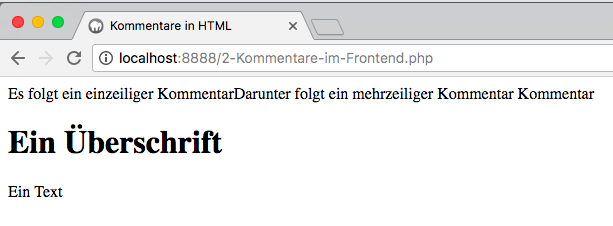 Kommentare in PHP