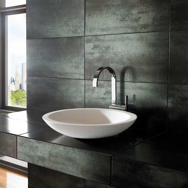 large round countertop bathroom basin in white stone resin 515mm dia freestanding sink deva