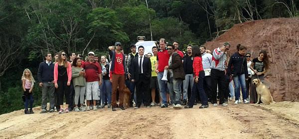 Parte das gravações foram realizadas dentro da obra, que foi invadida. Foto: Pedro G. da Rosa / Click Camboriú