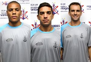 Samuel, Leandrinho e Leandro Branco. Divulgação / Marcílio Dias