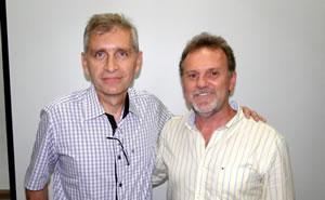 Paulo Scwingel e Paulo Maurici, presidente e vice-presidente. CRÉDITO: Fernando Assanti/Comitê Camboriú.