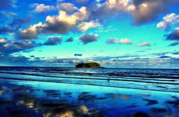 paisagem azul