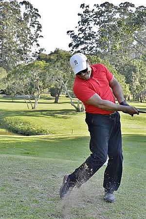 O golfista Ismael dos Santos