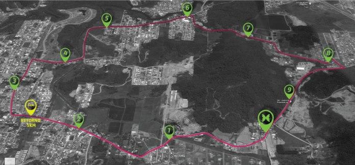 Percurso Meia Maratona GV