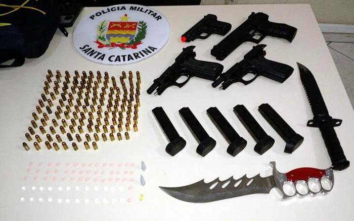 Homem é preso com armas munições e drogas no Estaleiro