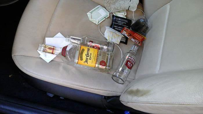 bebado causa acidente