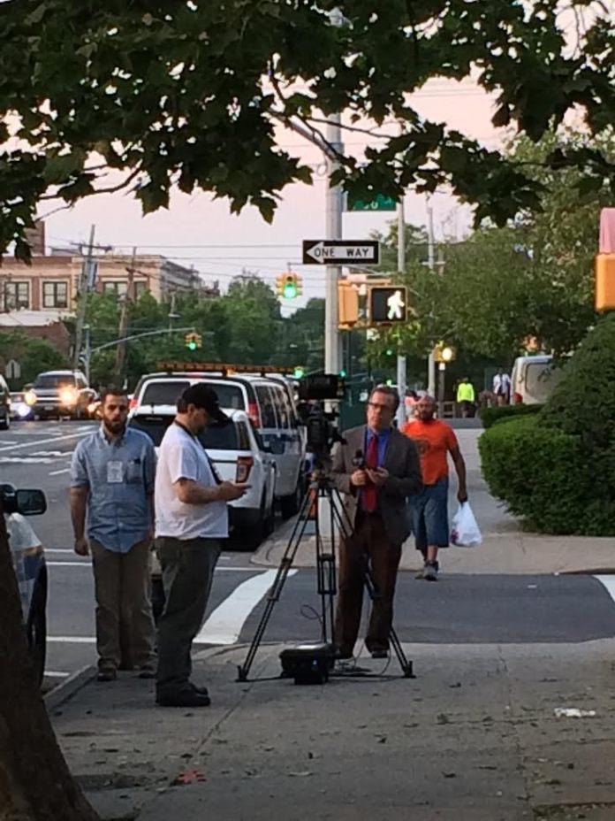equipe de televisão NY