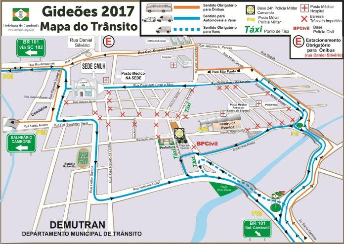 mapa do transito gideos
