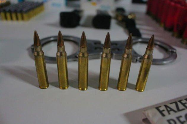 munições de fuzil