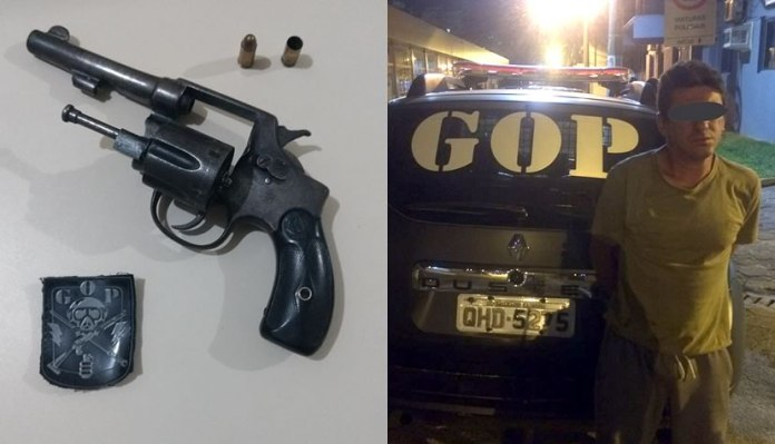 Guarda Municipal prende homem por posse ilegal de arma de fogo