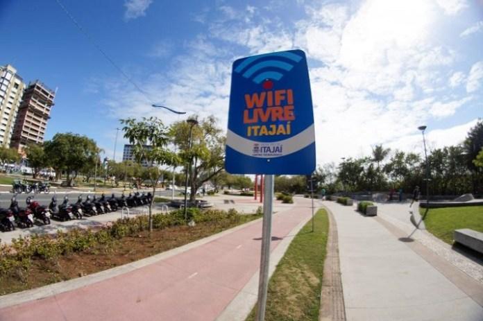 Wi Fi Livre está disponível para acesso em Itajaí