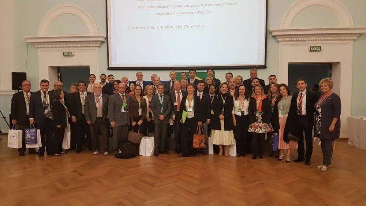 Delegação na Rússia