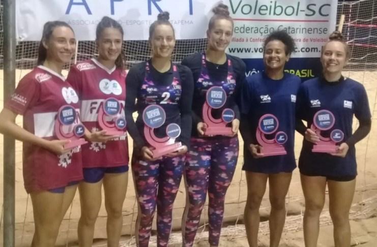 Atletas do Vôlei de Praia de Balneário Camboriú participaram de quatro eventos no fim de semana