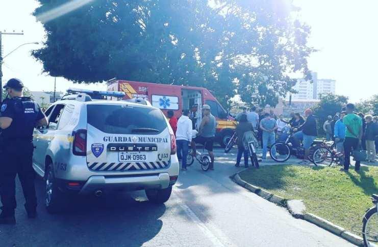 Guarda Municipal dá apoio em acidente de trânsito no Cidade Nova