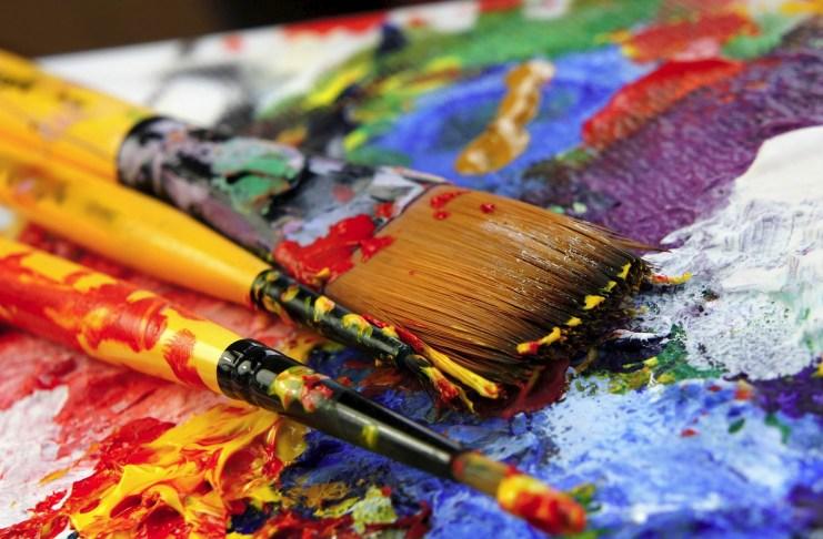 pincel obra pintura