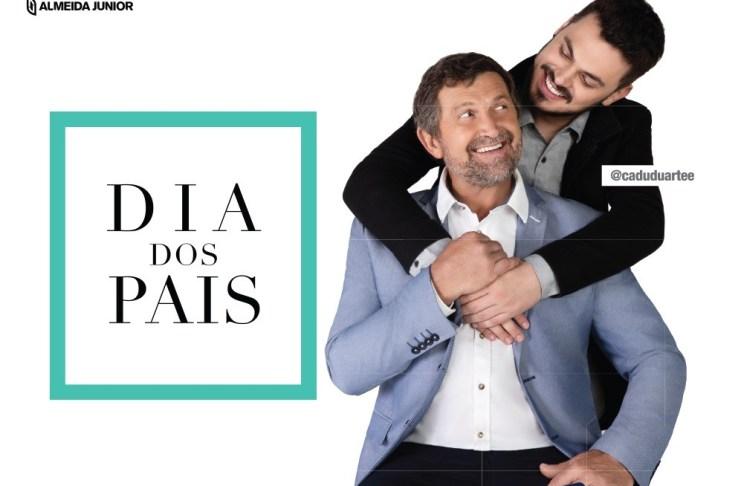 Campanha do Balneário Shopping traz Cadu Duarte e seu pai como estrelas do Dia dos Pais