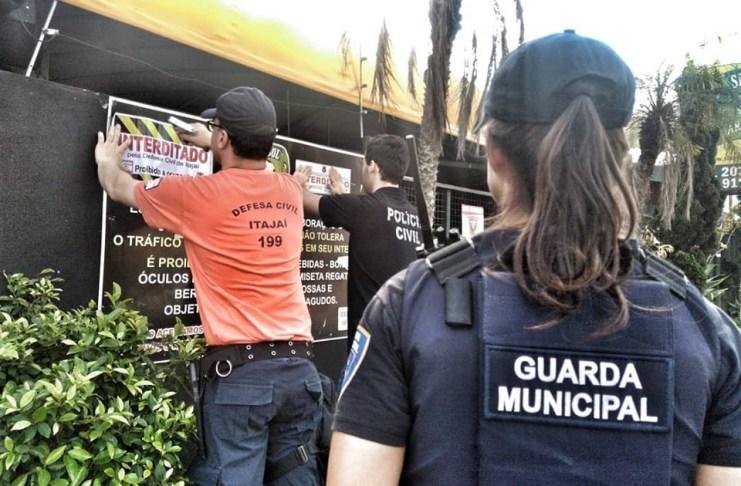 Guarda Municipal dá apoio durante interdição de casa noturna