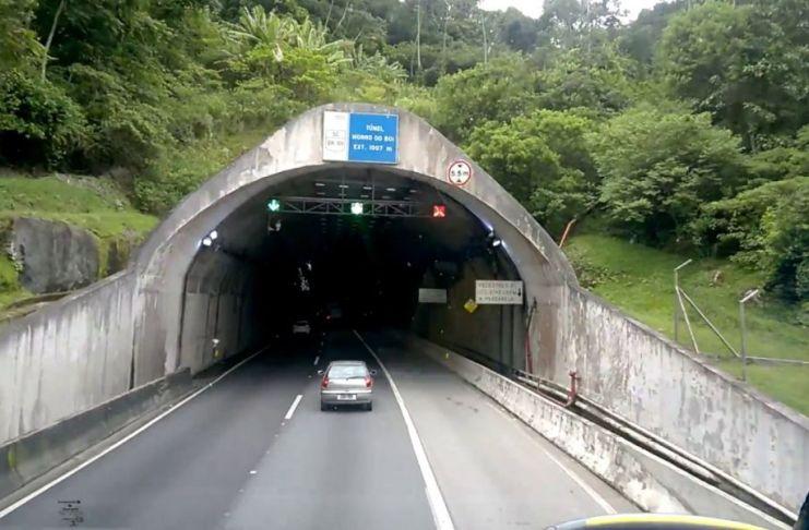 Arteris Litoral Sul interditará Túnel do Morro do Boi na madrugada de domingo