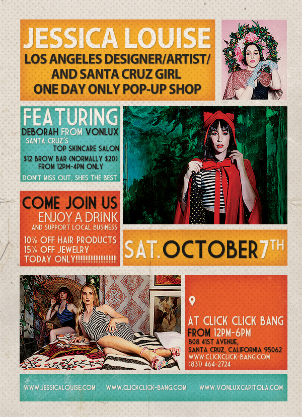 jessica louise click click bang santa cruz pop up shop