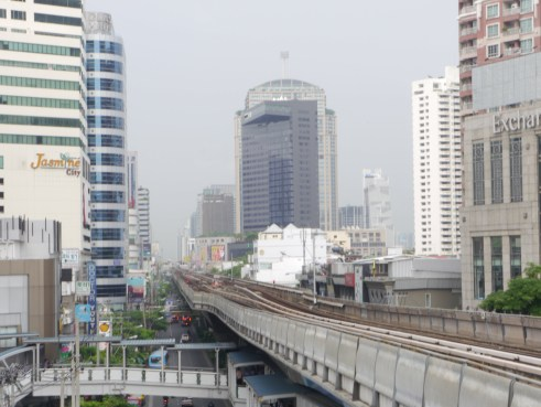A view from the Sky Train in Bangkok