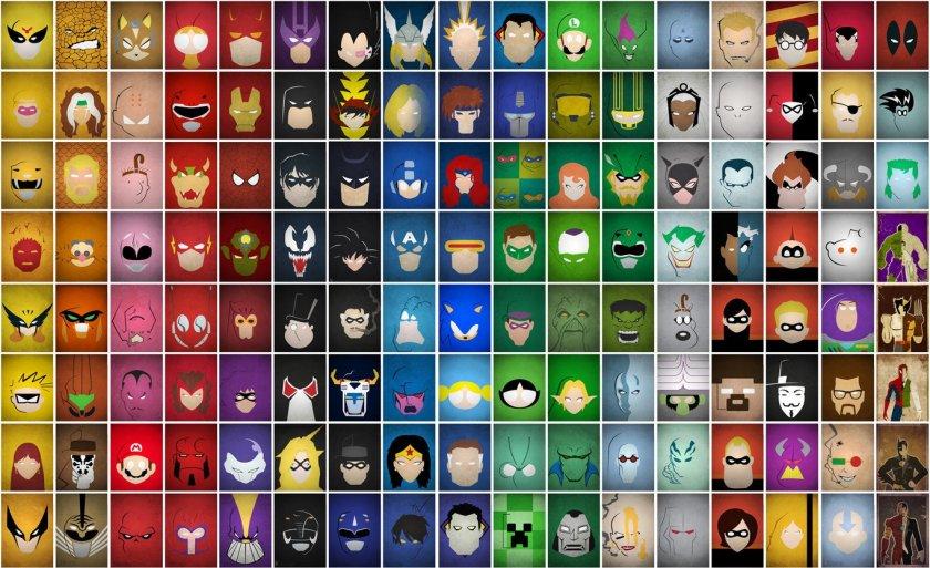 Color Spectrum of Heroes and Villains via dorkly.com