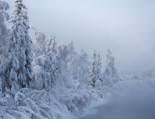 Chena River in Fairbanks in winter