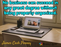 Getting Organized Quote