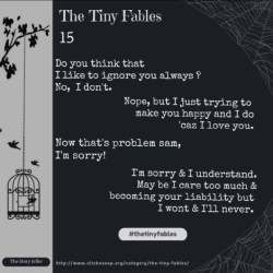 The Tiny Fables , quotes, sayings, stories, love quotes, friendship quotes, relationship quotes, breakup , Shayri, english poem, poetry, rhymes , happiness quotes, serenity, untold stories , fables, tiny fables