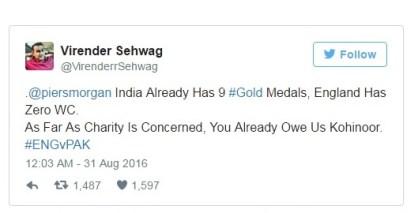 sehwag tweet back