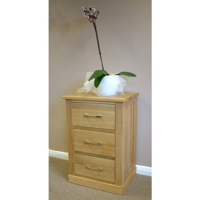 Mobel Light Oak Lamp End Bedside Table Click Oak