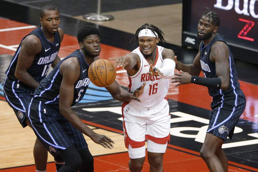 Wood scores 22 to lead Rockets to 132-90 rout of Orlando
