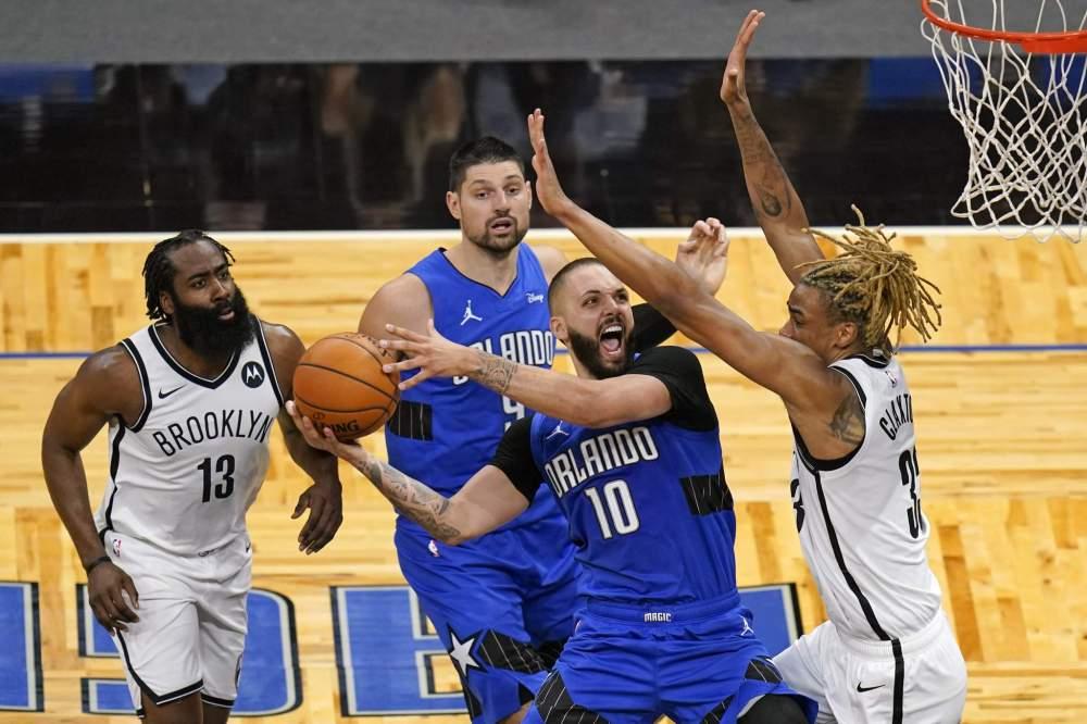 Gordon's 38 points lift Magic past Nets, 121-113
