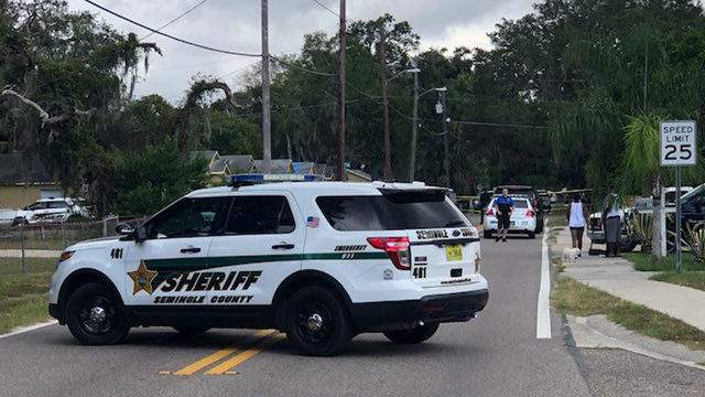 A Seminole County Sheriff's Office patrol vehicle parked near Merritt and Jackson Streets. (Photo: Jerry Askin/WKMG)