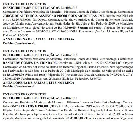 whatsapp image 2019 05 11 at 104408 1 - São João de Monteiro: Cachês de Wesley Safadão e Solange Almeida somam mais de meio milhão