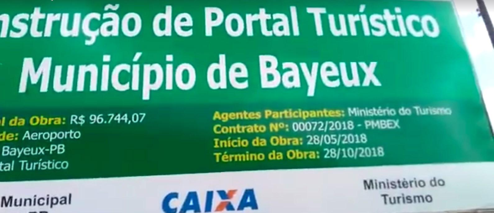 portaldebayeux - Obra inacabada de 'Portal de Boas-Vindas' revela desperdício de dinheiro público em Bayeux