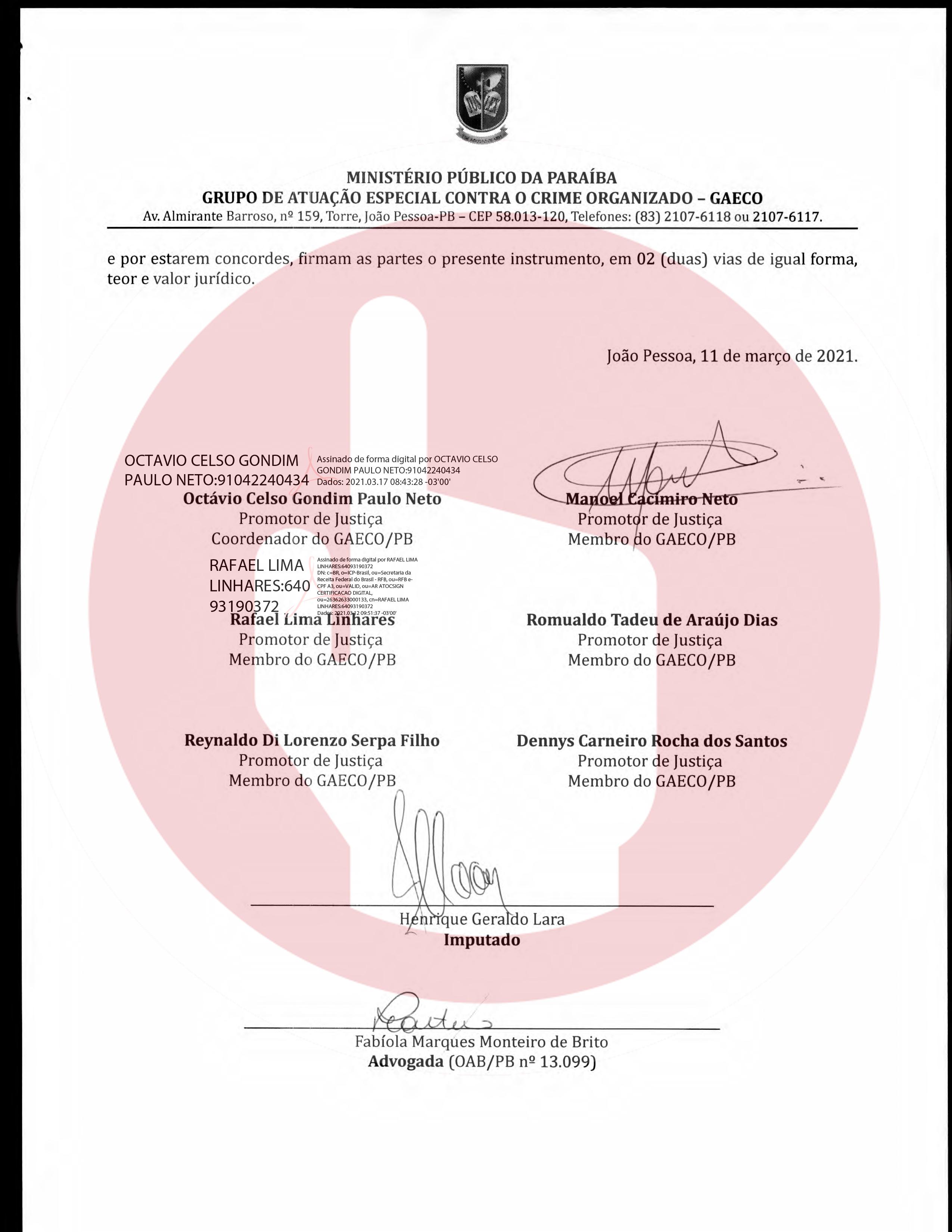 termo de anpp   henrique geraldo lara 6 - Henrique Lara, dono da Projecta fez acordo de quase 1 milhão de reais para não ser denunciado na Xeque-Mate - VEJA O DOCUMENTO