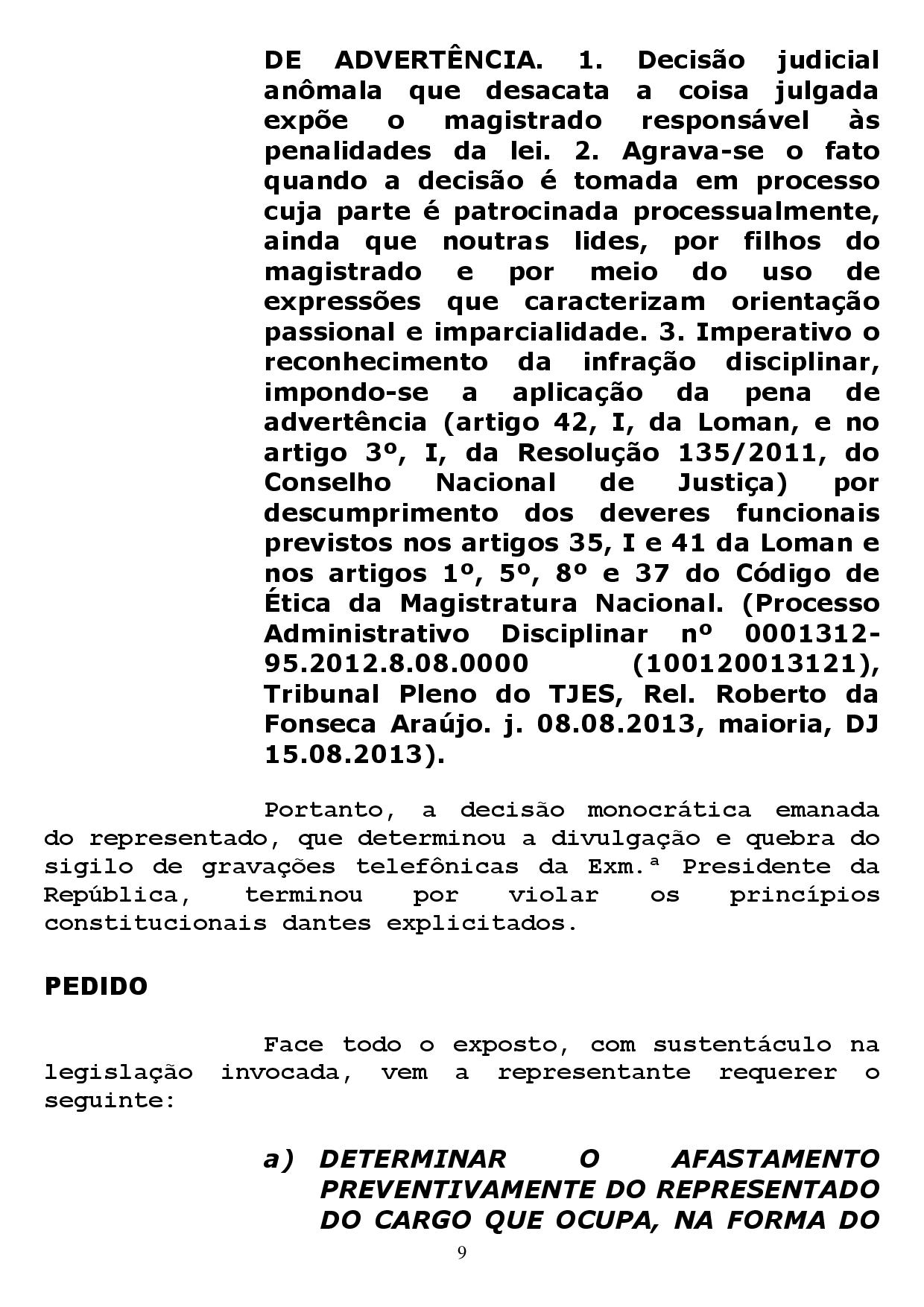 reclamacao correicional 1 page 009 - Sindicato dos Advogados da Paraíba pede no CNJ afastamento de Sergio Moro