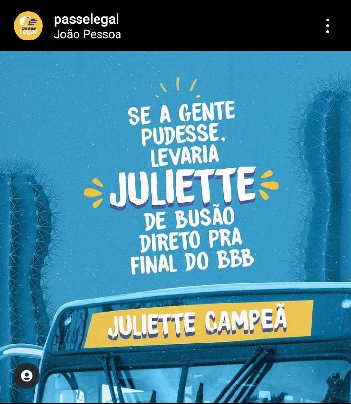 63818a8f-92ba-46b0-b715-1e5949e6b4ef Juliette Top das Paradas: paraibana é homenageada em transportes coletivos de João Pessoa