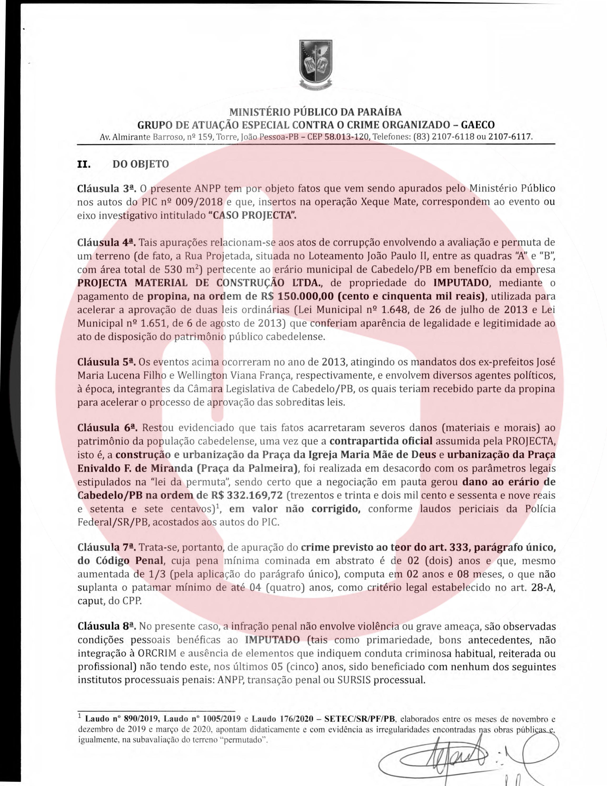 termo de anpp   henrique geraldo lara 2 - Henrique Lara, dono da Projecta fez acordo de quase 1 milhão de reais para não ser denunciado na Xeque-Mate - VEJA O DOCUMENTO