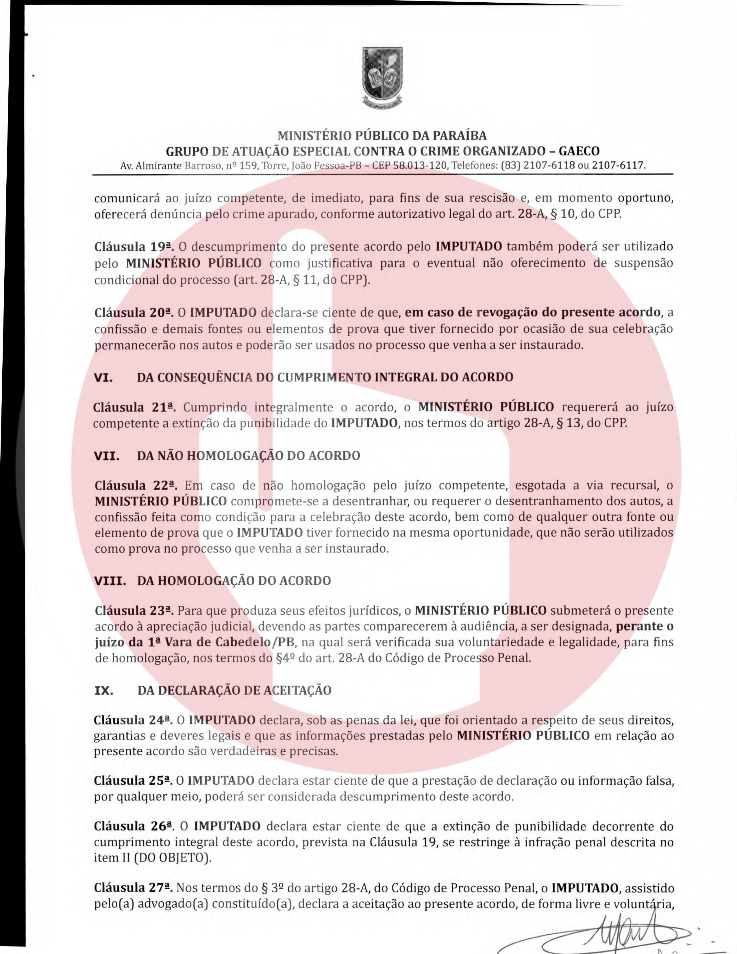 termo de anpp   henrique geraldo lara 5 - Henrique Lara, dono da Projecta fez acordo de quase 1 milhão de reais para não ser denunciado na Xeque-Mate - VEJA O DOCUMENTO