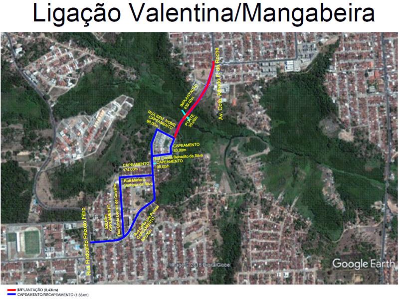 der via alternativa valentina mangabeira - DER começa nesta sexta obras que ligam bairros da Zona Sul ao Altiplano
