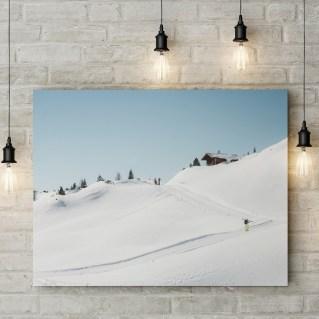 Leinwand Skifahrer